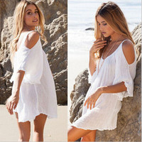 White Off Shoulder Boho Beach Dress