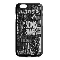 5 Seconds of Summer Songs Collage Black For iPhone 6S Case