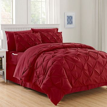 Hi-Loft Luxury Pintuck Comforter Set