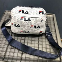 FILA Fashion new more letter print couple shopping shoulder bag