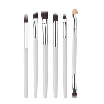 2017 Natural 6PCS Cosmetics Professional Makeup brushes set Korean Foundation Lip Eyeshadow brush Pincel maquiagem White