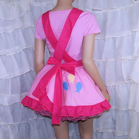 MLP Pinkie Pie Pink Pinafore Apron Costume Skirt Adult All Sizes- MTCoffinz