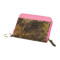 Weber's Mossy Oak Camo and Pink Mini Zip Wallet