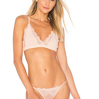 Only Hearts So Fine Lace Racerback Bralette in Apricot | REVOLVE