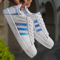Adidas Fashion Reflective Shell-toe Flats Sneakers Sport Shoes