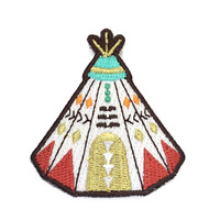 Teepee - Glamping - Embroidered Patch / Iron-On Applique