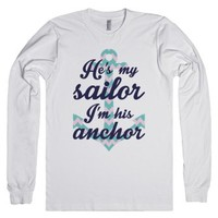 I'm His Anchor-Unisex White T-Shirt