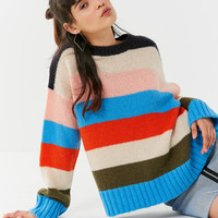 UO Colorblock Striped Sweater | Urban Outfitters