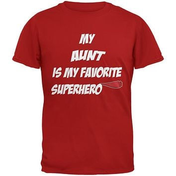 Aunt is My Superhero Red Adult T-Shirt