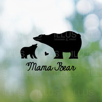 Mama Bear Vinyl Decal // Mom Decals, Laptop Decal, Car Decal, Phone Decal, Laptop Sticker, Waterbottle Decal, Laptop Vinyl, Bumper Sticker