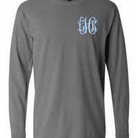 Pigment Dyed Long Sleeved T shirt