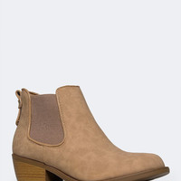 ELASTIC INSET BOOTIE