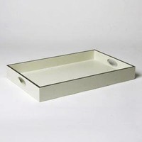 Silver framed tray by Barbara Barry