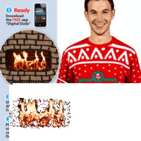 Knit Crackling Fireplace Ugly Christmas Sweater