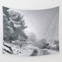 Adventure on the road. Retro Wall Tapestry by Guido Montañés