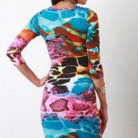 Python Print Bodycon Dress