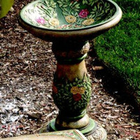 Bird Bath Garden Statue - Indoor Or Outdoor Use