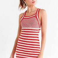 UO Maura Striped Crochet Mini Dress | Urban Outfitters