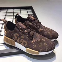 Adidas x Supreme x LV Men Women Running Breathable Sneakers Sport Shoes