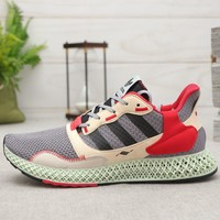 adidas ZX 4000 4D Grey Three Core Black-Hi Res Yellow Running Shoes
