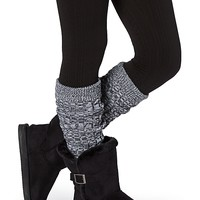 Marled Ribbed Leg Warmers