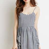 Gingham Fit & Flare Cami Dress