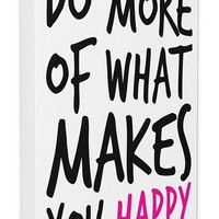 LulusimonSTUDIO 'Do More of What Makes You Happy' Canvas Wall Art
