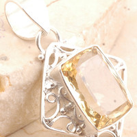 Incredible Citrine Pendant in 925 Sterling Silver