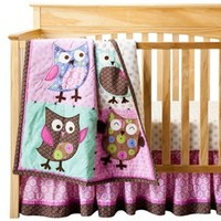 Bananafish 3-Piece Crib Set - Calico Owls