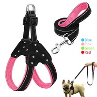 Reflective Nylon Rhinestone Dog Harnesses