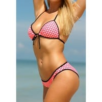 Watermelon Polka Dot Flower Child Top by Surf Style - Surf Style - Brands