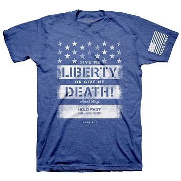 Kerusso Hold Fast Give Me Liberty or Give Me Death USA American Flag Christian Unisex T Shirt