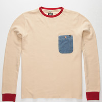 Lost Say Hey Mens Thermal Khaki  In Sizes
