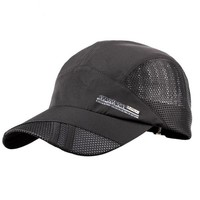 Plain Mesh Snapback Baseball Cap Quick Drying Hats for Men Cotton Casual Caps Breathable Fitted Belt Adjustable Dad Hat
