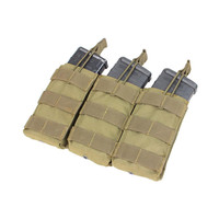 Triple M4-M16 Open-Top Mag Pouch Color- Tan