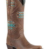 Ariat Cheyenne Tribal Embroidered Cowgirl Boots - Snip Toe - Sheplers