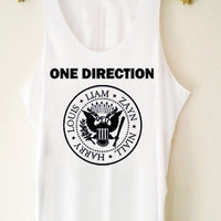 Custom Tank top Hot One Direction Ramones Funny Shirt  for Tank top Mens and Tank top Girl Size S-XXL by JumatanBro