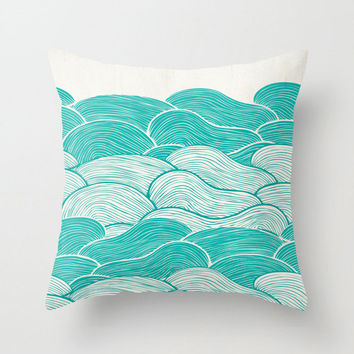 The Calm and Stormy Seas Throw Pillow for your home decor