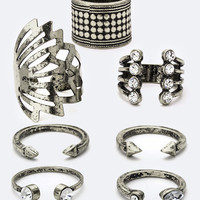 Antique Silver Mixed Accent Ring Set