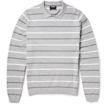 Todd Snyder - Collared Striped Cotton and Cashmere-Blend Sweater | MR PORTER