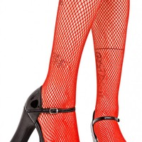 Fire Demon Days Fishnet Tights