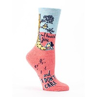 I Heard You & I Don't Care Women's Crew Socks