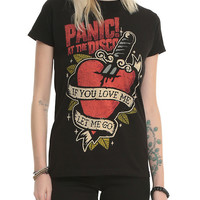 Panic! At The Disco Tattoo Heart Girls T-Shirt