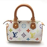 LV color letter printed mini pillow bag handbag crossbody bag