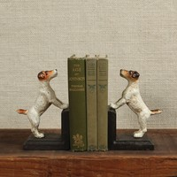 Jake, the Jack Russel Bookends