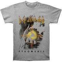 Def Leppard Men's  Target Pyromania T-shirt Grey