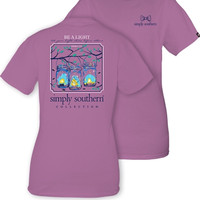 Simply Southern Be A Light Tee - Eggplant