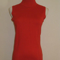 $239 Milly Sleeveless Silk Cotton Cashmere Knit Top S