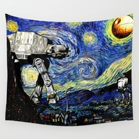 Starry Night versus the Empire Wall Tapestry by Kamonkey | Society6