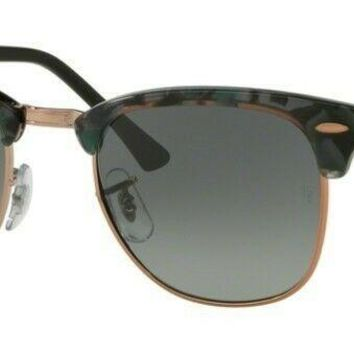 Sunglasses Ray-Ban CLUBMASTER RB3016 1255/71 49 Spotted Grey Green